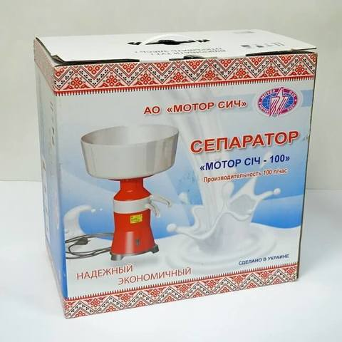 Сепаратор молока Мотор Сич СЦМ-100-19