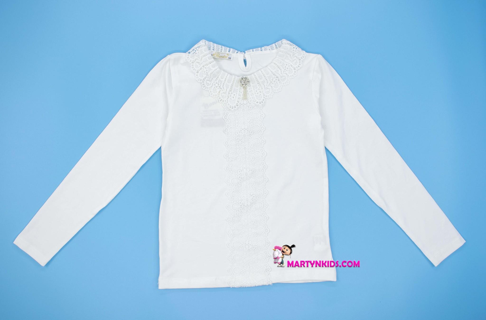 2717 блузка большие кружева рукав