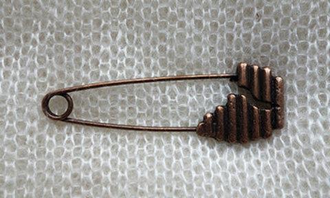 Булавка с декоративной головкой, цвет состаренная медь