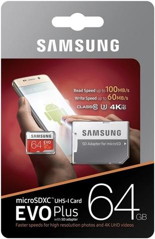 64GB microSDHC Class10 EVO PLUS UHS-I 95MB/S SAMSUNG