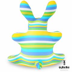Подушка-игрушка антистресс Gekoko «Зая Полосатый зеленый» 4