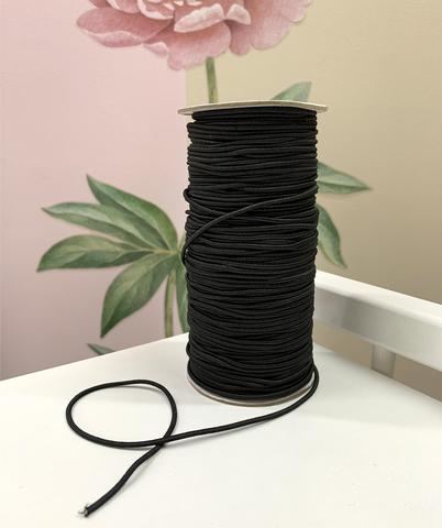 Резинка шляпная, 2,5 мм, черная
