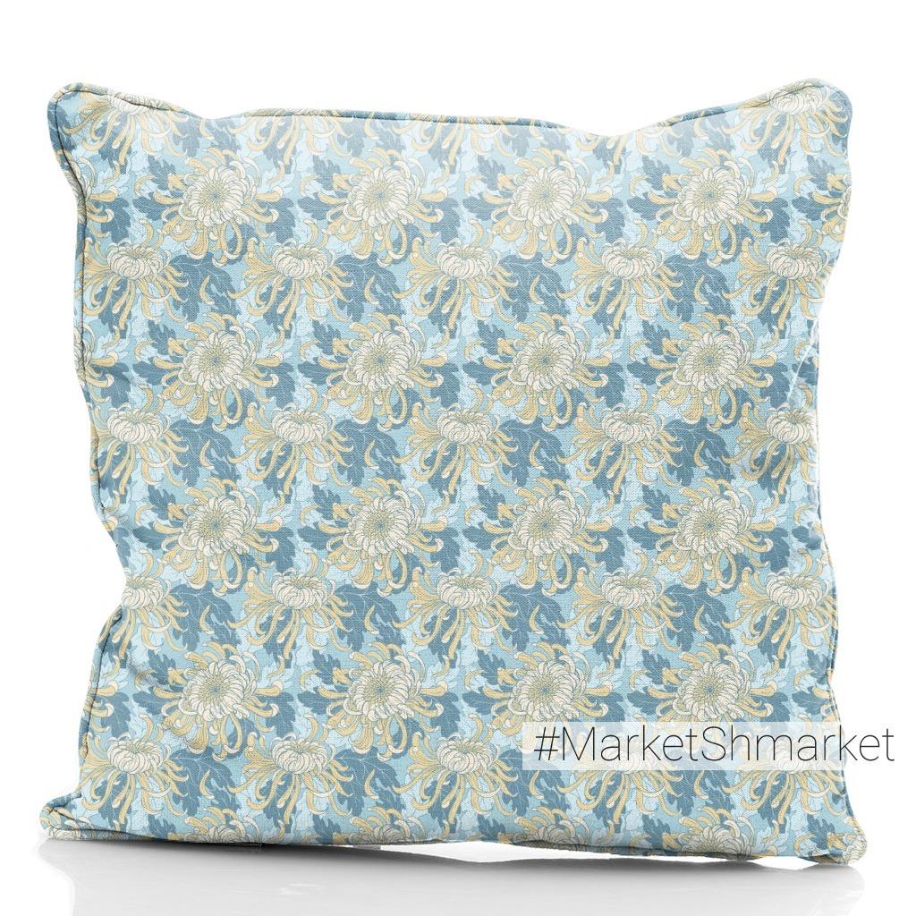Хризантемы на голубом