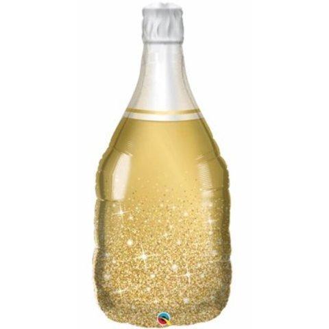 Шар фигура Бутылка шампанского золотая