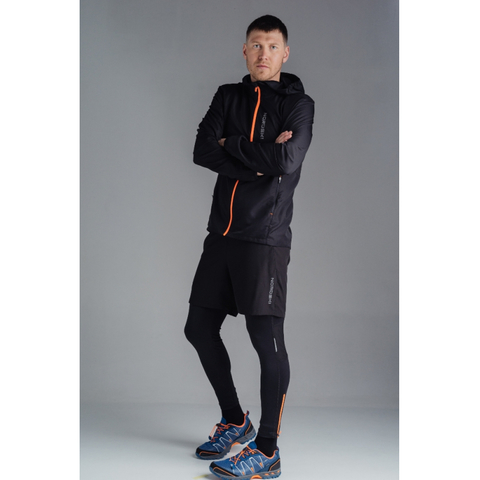 Тайтсы для бега Nordski Premium Black/Orange мужские