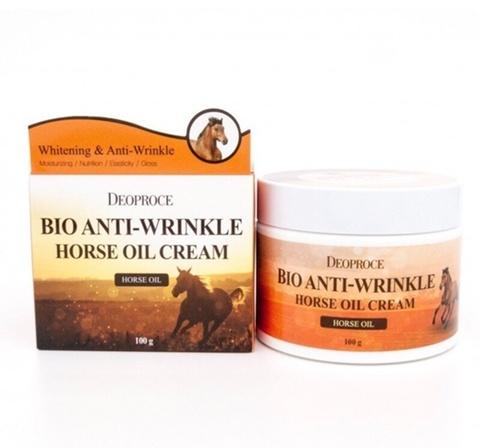 Био-крем против морщин с лошадиным жиром Deoproce Bio Anti-Wrinkle Horse Oil Cream