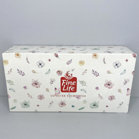 Бумажные салфетки Fine Life в коробке (150 шт.)