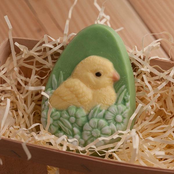Форма пластиковая для изготовления мыла Яйцо/Цыпленок