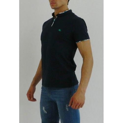 Мужская футболка поло темно-синяя ETRO