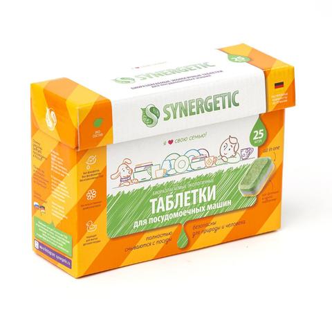 Таблетки для посудомоечных машин Synergetic 25 штук