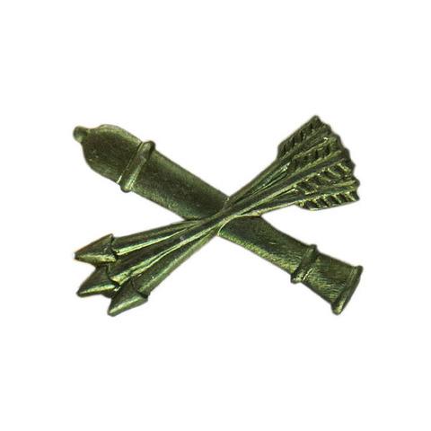 Эмблема петличная Войска ПВО, металл. защитный