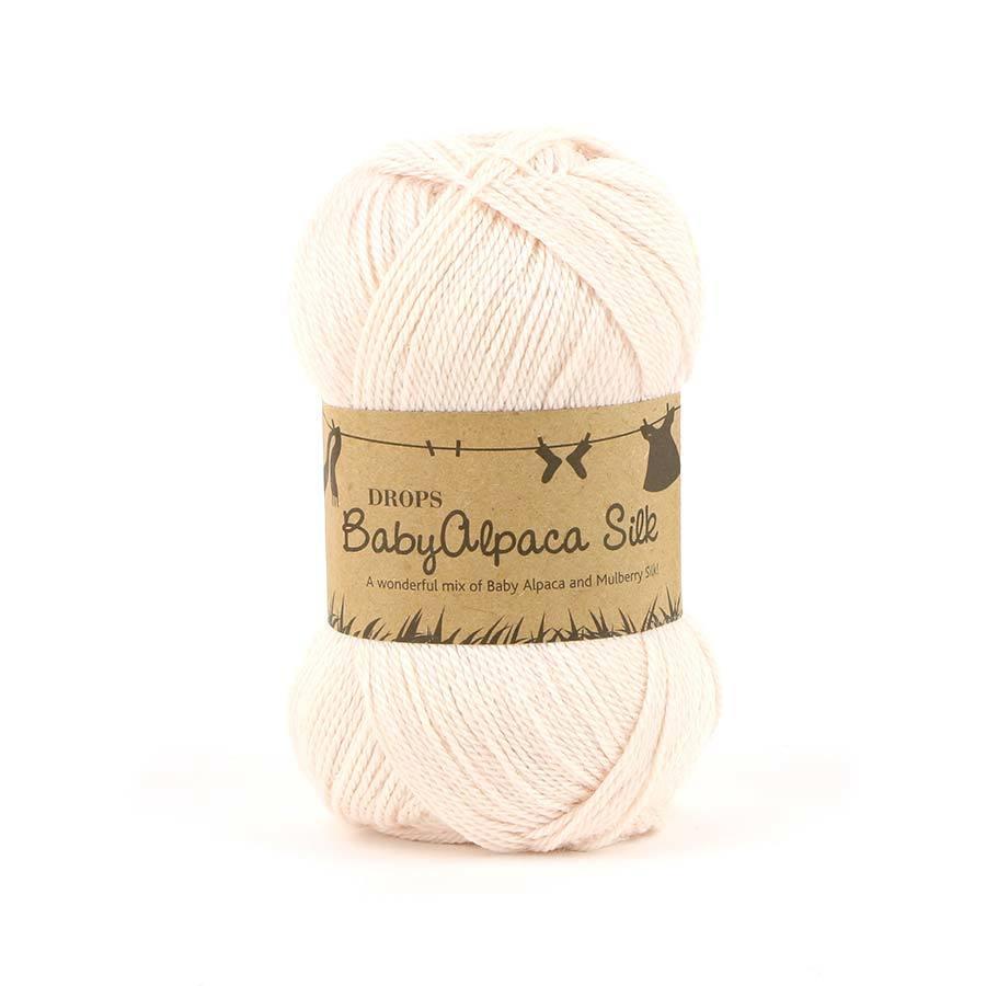 Пряжа Drops Baby Alpaca Silk 1306 пудра