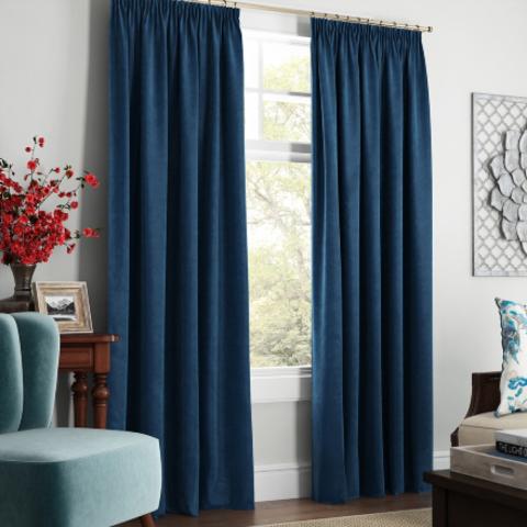 Комплект штор с подхватами Адалин синий