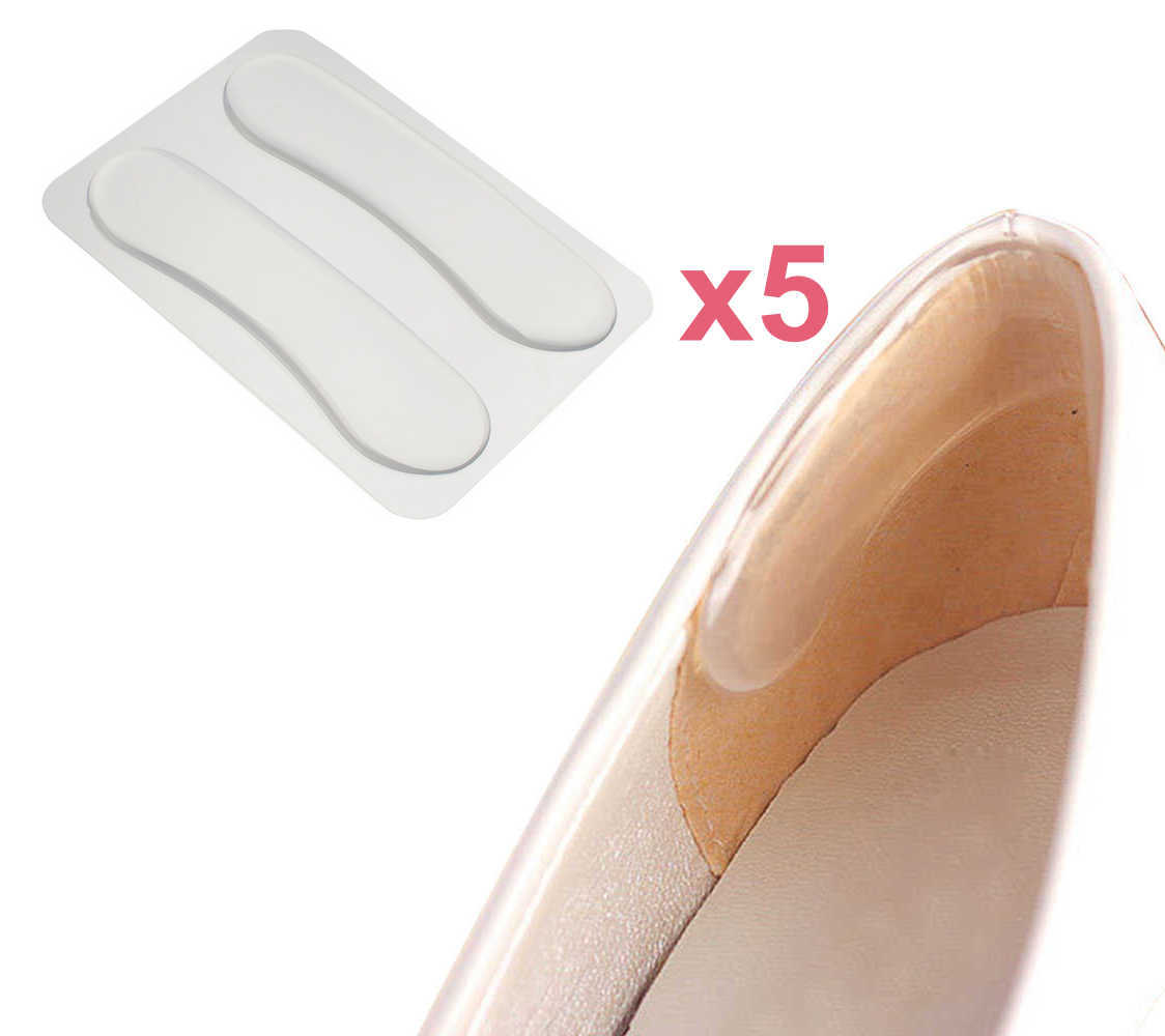 Комплект: силиконовые вкладыши в заднюю часть обуви, 5 пар