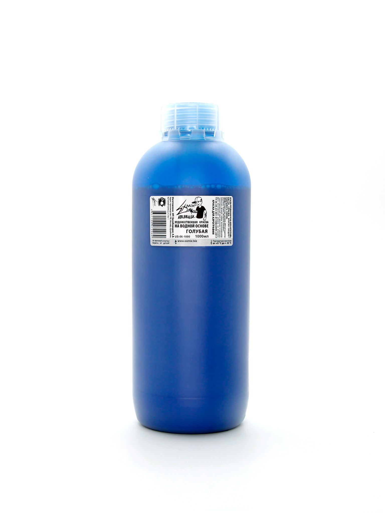 Краска Exmix Краска укрывистая Exmix 06 Голубая 1000 мл US-06-1000.jpg