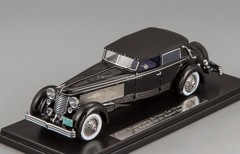 Duesenberg SJ Town Car Chassis 2405 by Rollson for Mr. Rudolf Bauer 1937 fully closed Esval 1:43