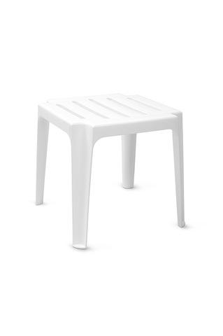 Пластиковый столик к шезлонгу белый
