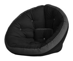 Кресло Farla Lounge Чёрное с серым