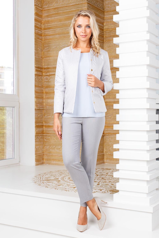 Брюки А468-385 - Укороченные брюки классической формы, без карманов. Идеальный летний вариант для делового или повседневного образа. Прекрасно сочетается с любым видом верха и обувью.