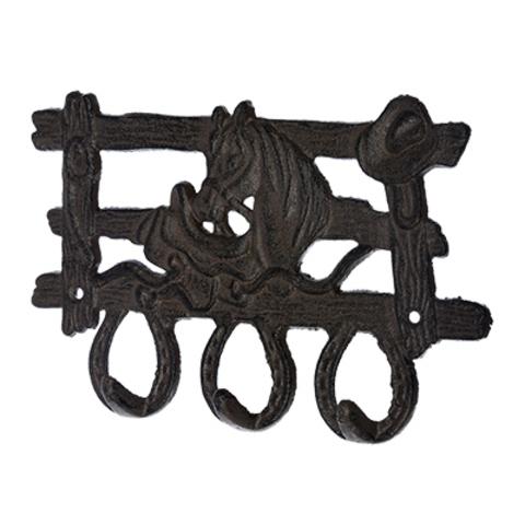 Вешалка чугунная 3 крючка «Ранчо»