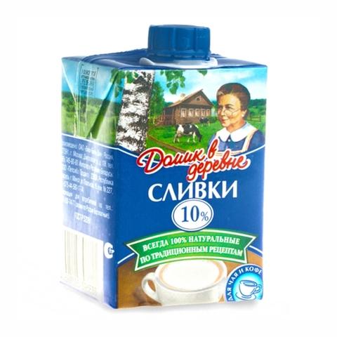 Сливки ДОМИК В ДЕРЕВНЕ 10% 200 мл т/п РОССИЯ