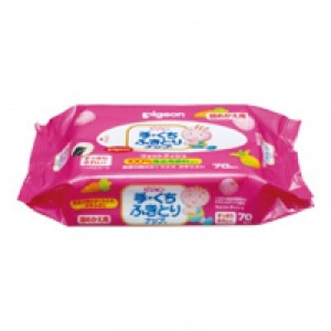Детские влажные салфетки для рук и лица PIGEON 70 шт