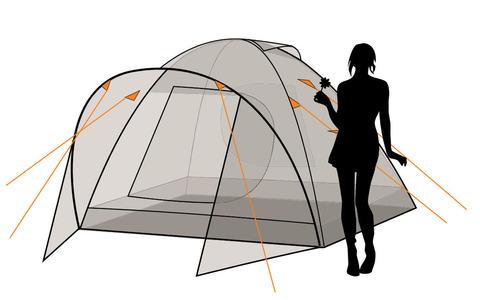 Палатка Canadian Camper KARIBU 2, цвет forest, схема 3.