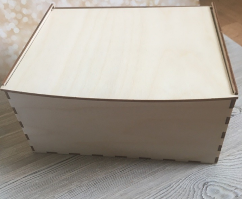 057-9295 Короб-шкатулка деревянный (21*15,5*10см.)