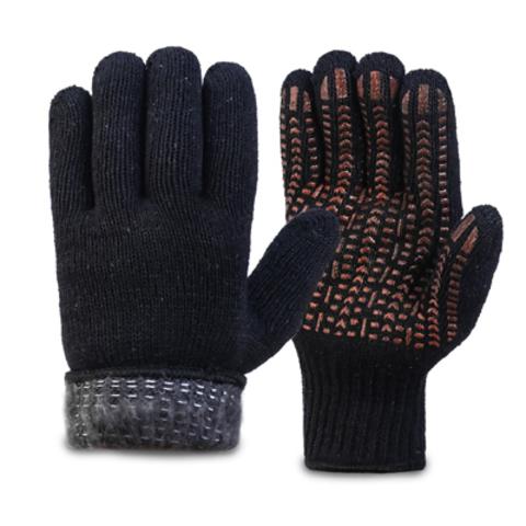 Перчатки акриловые двойные, манжет с подворотом