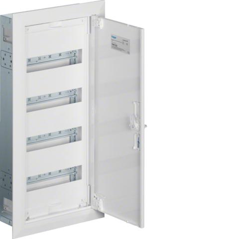 Щиток встраиваемый,секционный,с оснасткой,650x300x110мм (ВхШхГ),одна дверь,RAL9010