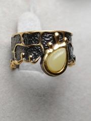 Олимия (кольцо из серебра с позолотой)