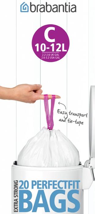 Мешки для мусора PerfectFit, размер С (10-12 л), рулон, 20 шт., арт. 245343 - фото 1