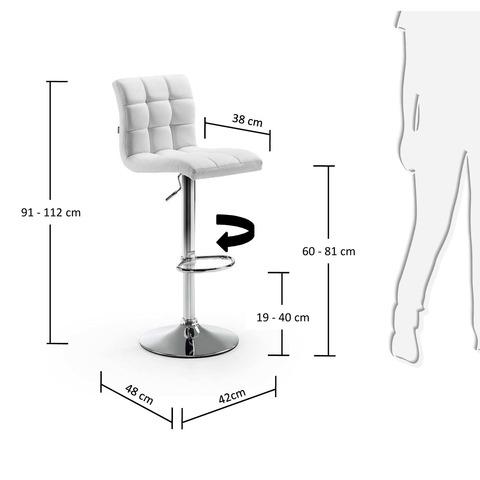 Барный стул Lodi белый