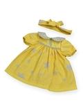 Платье с воротничком - Желтый / звезды. Одежда для кукол, пупсов и мягких игрушек.