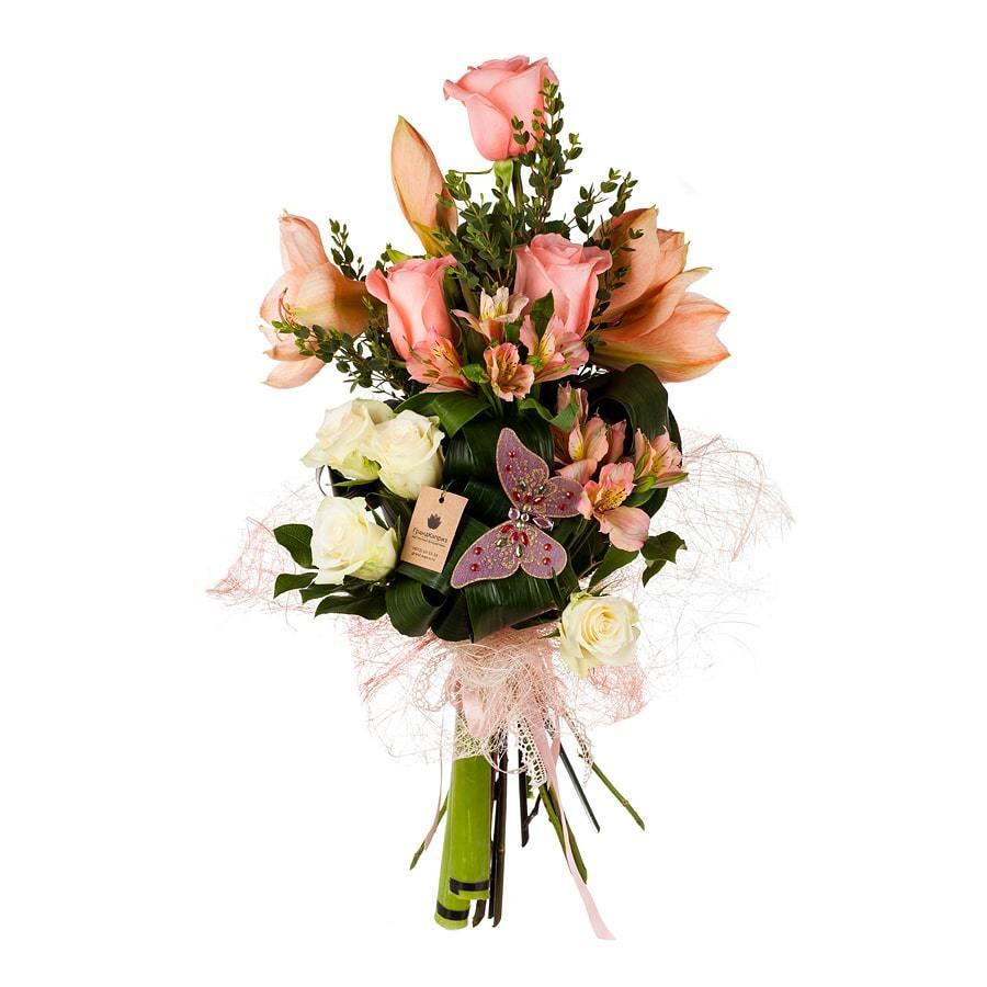 Букет из роз и альстромерий - Восхищение
