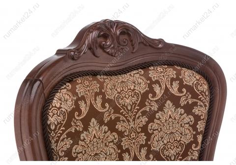 Стул деревянный кухонный, обеденный, для гостиной Кресло Руджеро с мягкими подлокотниками орех / шоколад 58*58*107 Орех /Шоколад