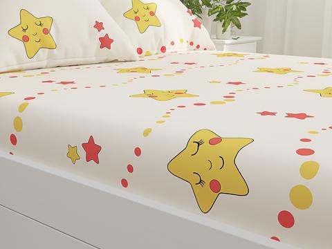 Простынь  -Летние звезды- 150х215 см 1,5-спальная