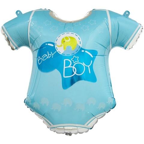 Шар фигура Боди малыша голубой 58 см