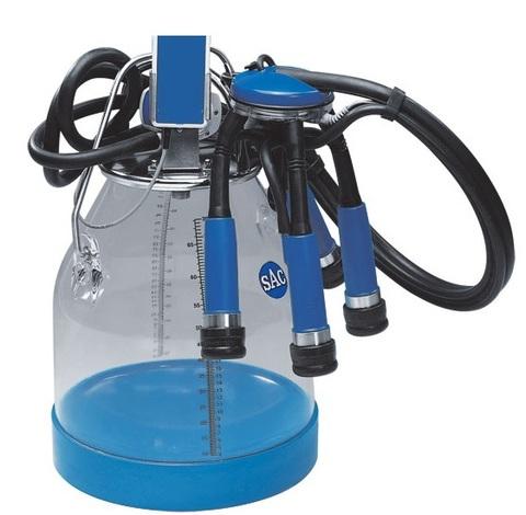 90010043 Ведро доильное прозрачное для молока 30 л в комплекте с крышкой , пульсатором 60/40 и арматурой