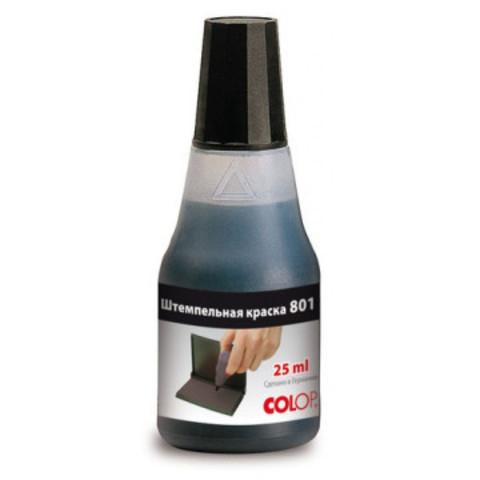 Краска штемпельная Colop 801 черная на водно-глицериновой основе 25 г