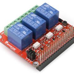 Релейный модуль 5В 10A для Raspberry Pi, 3 канала
