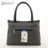 Сумка Саломея 388 серый + черный