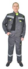 Куртка Респект Респект, тк.смес.пл.240г/м2, цвет серый, черный, лим.