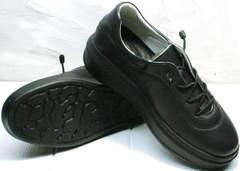 Осенние кеды черные кожаные женские Rozen M-520 All Black.