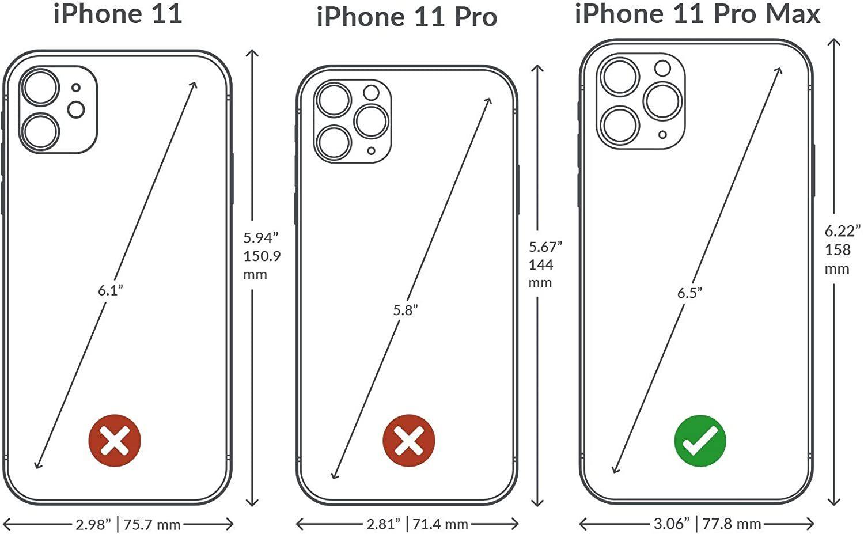 iphone 11 pro max - lizard bordeaux