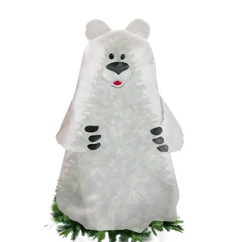 Укрытие для растений - фигура «Белый медведь», 125х150 cм