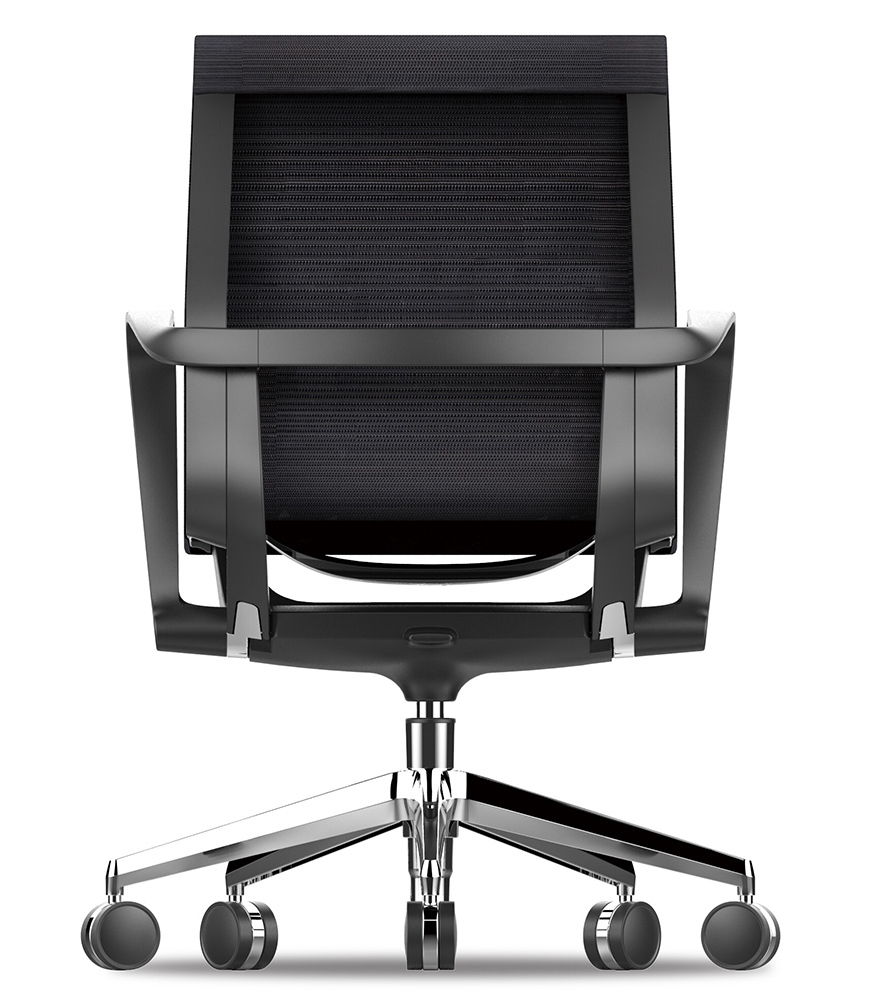 Офисное кресло Prov LB черная сетка, база хром - вид 4