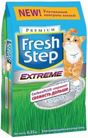 Fresh Step Extreme впитывающий наполнитель, тройная защита 18 л (9,52 кг)