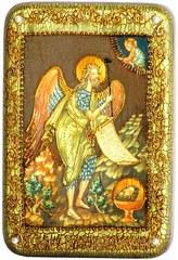 Инкрустированная Икона Пророк и Креститель Иоанн Предтеча 15х10см на натуральном дереве, в подарочной коробке