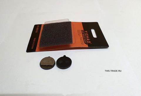 Тормозные дисковые колодки (круглые с язычком) набор 2шт. (21мм) для KUGOO M4 Pro